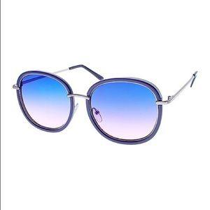 NWT A.J. MORGAN Blue Ombré Oversized Sunglasses